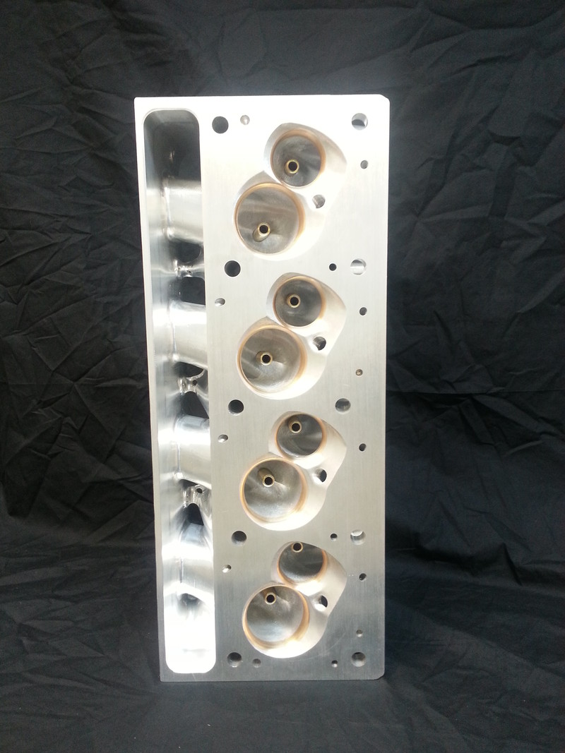 Billet Cylinder Heads : Pontiac symmetrical canted