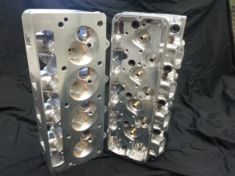 Billet Cylinder Heads : Sb ford pro for stock lifter location