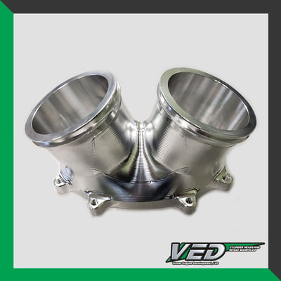 "Oval Throttle Body - Dual 3"" Standard V-Inlet DUAL O-RING"