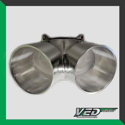 "Oval Throttle Body - Dual 3.5"" Standard V-Inlet"